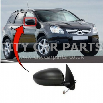 NISSAN QASHQAI  2007 TO 2013 WING DOOR MIRROR HEATED ELECTRIC DRIVER SIDE